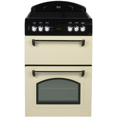 Beko Leisure CLA60CEC 60Cm Double Electric Oven Cooker With Ceramic Hob in cream