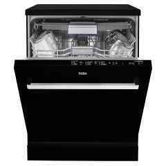 Beko DEN28420G 14 Places Dishwasher - Half Load Option - Full Size - Black