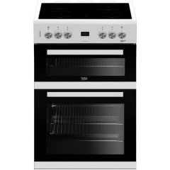 Beko EDC633W 60Cm Double Oven Electric Cooker in white