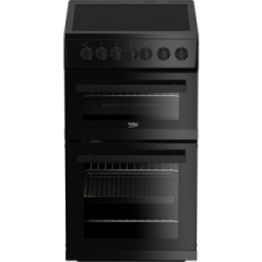 Beko EDVC503B Electric Double Electric Oven Cooker - Black
