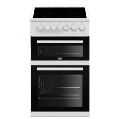 Beko EDVC503W 50Cm Double Oven Electric Cooker  in white
