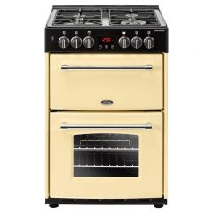 Belling 444444710 60E Ceramic Electric Cooker With Double Oven - 65lL main oven, 37L top conventional oven + Grill