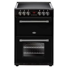Belling 444444711 60E Black Farmhouse Electric Cooker with double oven in black. 69L/ 39L.