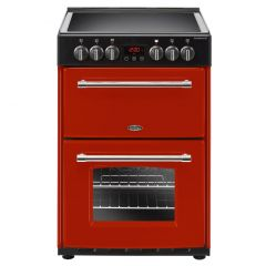 Belling 444444712 Farmhouse 60E Double Oven Electric Cooker in Hot Jalapeno