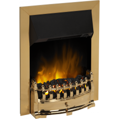 Dimplex STM20BR Stamford Brass Optiflame Inset Electric Fire - 2Kw Or 1Kw Can Be Used Independently