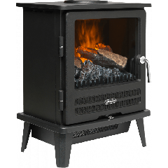 Dimplex WLL20 Optimyst Electric Stove In Matt Black With Remote Control Choice Of Two Heat Settings