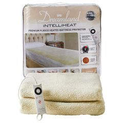 Dreamland Premium Fleece Heated Mattress Protector- Single