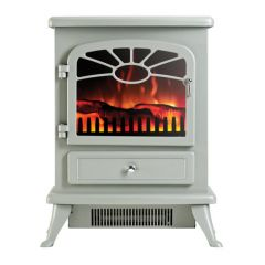 Focal Point ES2000-GREY Freestanding Electric Stove In Grey 1.85Kw - Can Use Without Heat
