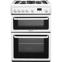 Hotpoint HAG60P 60Cm Gas Cooker In White