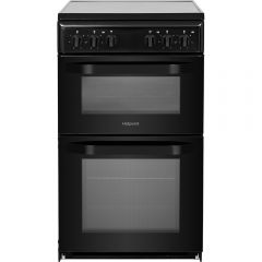 Hotpoint HD5V92KCB 50Cm Twin Cavity Electric Cooker