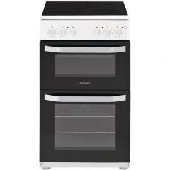 Hotpoint HD5V92KCW 50Cm Electric Cooker Double Cavity