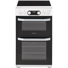 Hotpoint HD5V93CCW Double Electric Cooker In White 50Cm