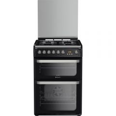 Hotpoint HUD61KS 60Cm Dual Fuel Double Cooker With Gas Hob