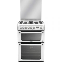 Hotpoint HUD61P (S) Dual Fuel 60Cm Cooker With Gas Hob