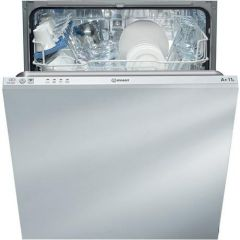 Indesit DIF04B1 Built In Dishwasher with 13 place settings and 4 Programmes