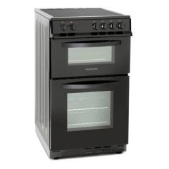 Montpellier MDC500FK Electric Double Oven W50 55L Main Fan Oven - 31 L Top Oven And Grill