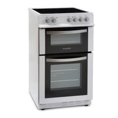 Montpellier MDC500FW Electric Double Oven Cooker - W50cm