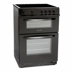 Montpellier MDC600FK 60Cm Black Electric Double Oven Cooker