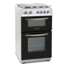 Montpellier MTG50LW 50CM TWIN CAVITY GAS OVEN IN WHITE, LPG
