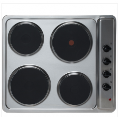 Montpellier SP601X Built-In 60Cm 4 Zone Solid Plate Hob In Stainless Steel