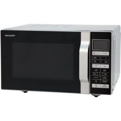 Sharp R860SLM 800W 20Ltr Flatbed Combination  Microwave in Silver