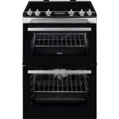 Zanussi ZCI66278XA 60Cm Double Oven Electric Cooker  with an Induction Hob